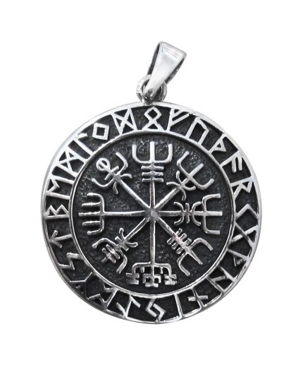 Ciondolo con rune e simboli esoterici