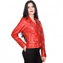 Ladys Brando  giacca in vera pelle