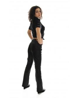 Pantalone donna in vera pelle Hard Leather Stuff