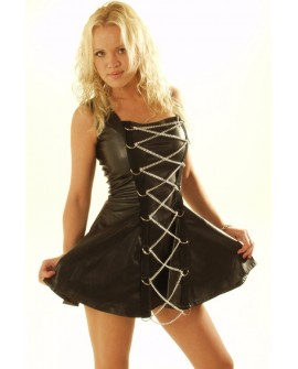 Leather look PVC Links Dress