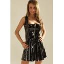 Gloss Multi-Zip Flare Dress
