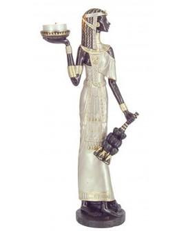 Figura egiziana con porta tealight