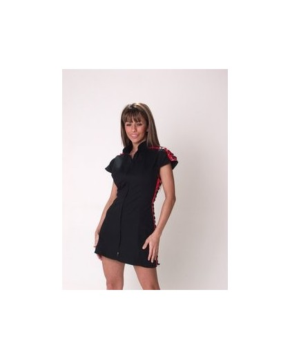 CANVAS EYELET DRESS