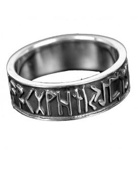 Anello in argento con rune