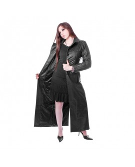 long Ladys Leather Coat
