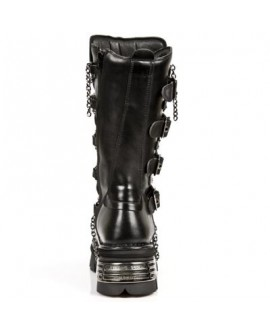 New Rock 5-Buckle Chain Boots