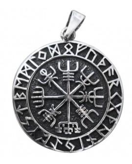 Ciondolo Vegvisir Compasso runico