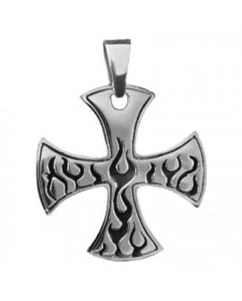 Croce di ferro con fiamme
