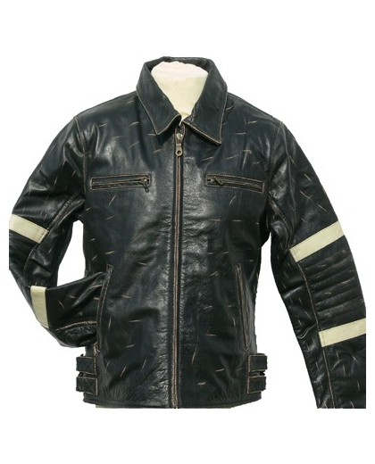 Leather Jacket 1735 buff rub