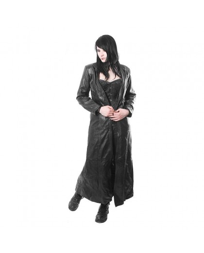 Triny long Leather Coat
